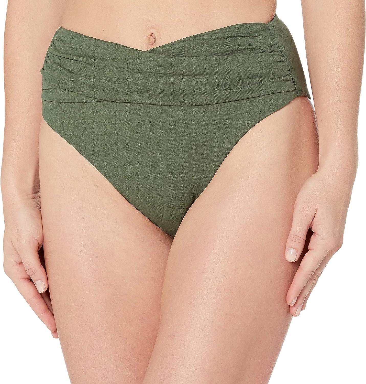 Seafolly Women's Standard High Waist Wrap Front Bikini Bottom Swimsuit