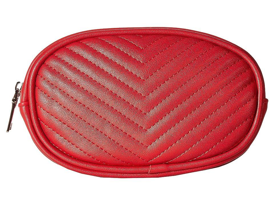 Steve Madden Chevron Quilted Belt Bag (Red) Women