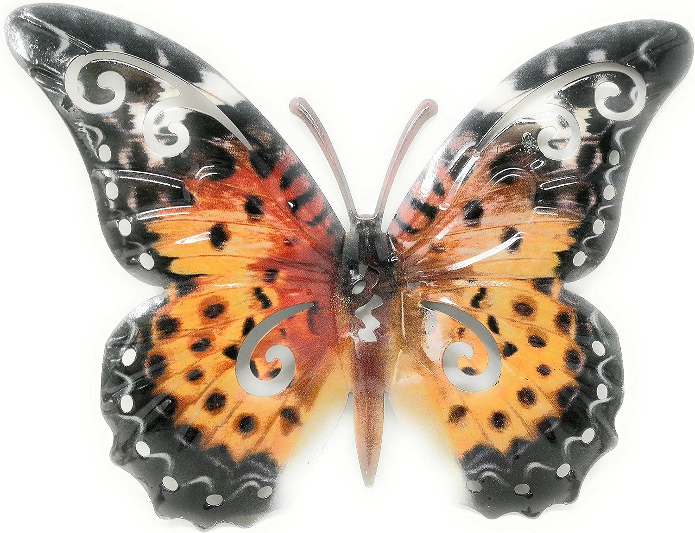 Unbekannt Schmetterling Wandschmuck aus Metall metallicfarben 20 ...