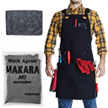 Shop Apron – Waxed Canvas woodworking aprons for men and women with 6 Spacious..