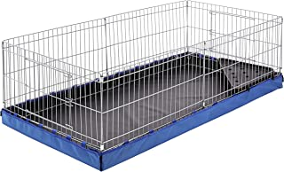 AmazonBasics Canvas Bottom Habitat Pet Cage - 47 x 14 x 24 Inches, Blue