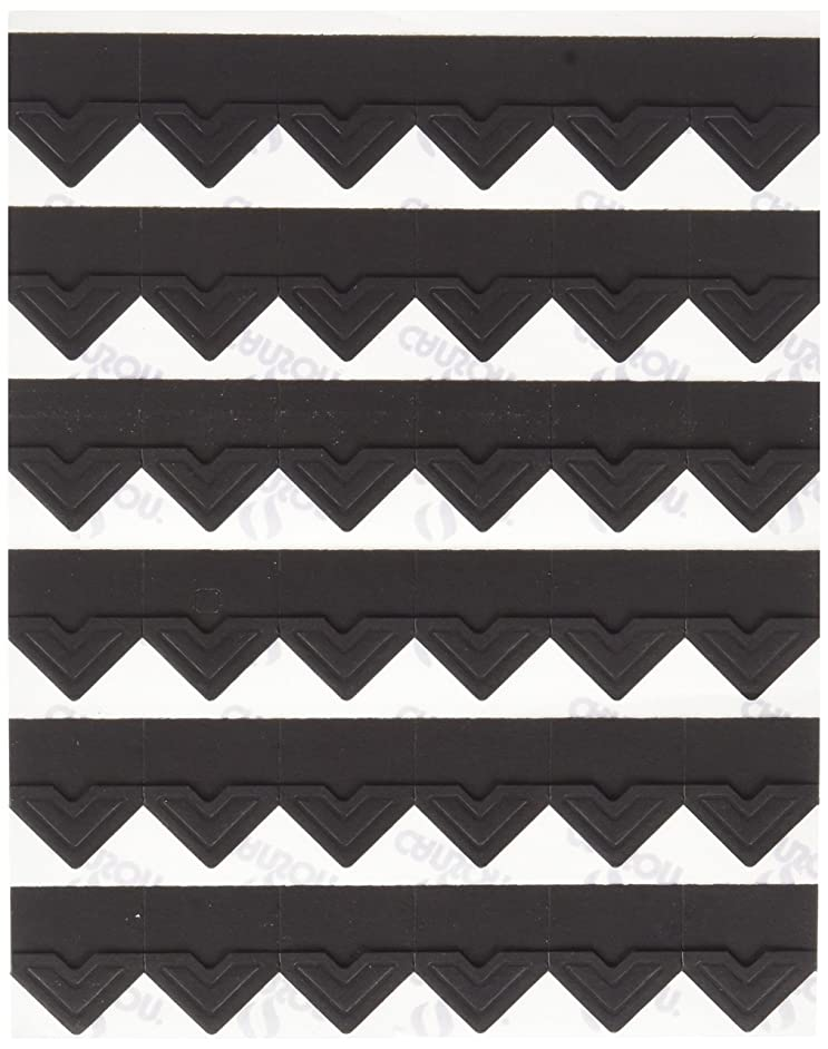 Canson Self Adhesive Photo Corners, Peel-Off Archival Quality, Black, 252-Pack (100510395)