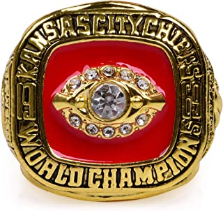 MT-Sports Kansas City Chiefs 1969 Championship Ring Super Bowl Collectible Size 11