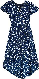 Girls' Big Short Sleeve High Low Surplice Dress