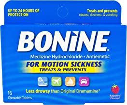 Bonine Motion Sickness Protection Chewable Tablets Raspberry (64 Tablets)