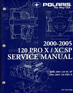 2000-2005 POLARIS SNOWMOBILE 120 PRO X/XC SP SERVICE MANUAL CD INCLUDED (147)