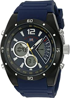 Sport Men's Quartz Metal and Rubber Casual Watch,...