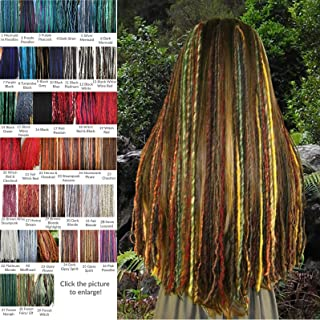 Yarn Dread Falls Clip-in Dreadlocks Set of 5 or 6 dreads clips 100-144 single locs 22.5 or 38 inches long Lightweight dreads hair extensions MANY COLORS!