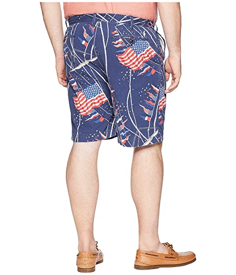 Lowest Price Low Shipping Fee Cheap Price Polo Ralph Lauren Big & Tall Surplus Chino Flat Front Shorts Flag Print Novelty 8611lg4