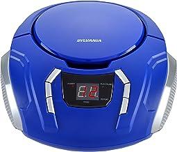 Sylvania SRCD261-Blue Portable CD Boombox with Am/FM Radio (Blue)