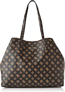 Borsa shopping Guess donna pelle marrone fantasia leopardata