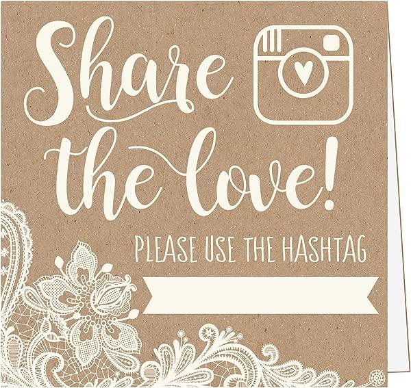 25 个卡夫蕾丝婚礼标签标志乡村风格的复古桌面放置卡或照片亭哦,婚礼婚礼招待会或仪式装饰的快照标志报价