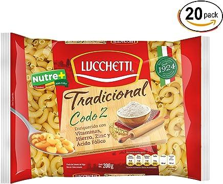 Lucchetti Codo 2 Tradicional, 200 g x 20 paquetes