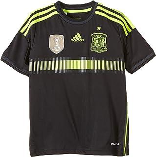 FEF Away Jersey - Camiseta de Manga Corta para niños, diseño de la Selección de fútbol de España visitante