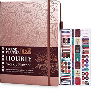 Sponsored Ad - Legend Planner PRO Hourly Schedule Edition - Deluxe Weekly & Daily Organizer with Time Slots. Time Manageme... photo