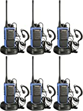 Arcshell Rechargeable Long Range Two-Way Radios with Earpiece 6 Pack UHF 400-470Mhz Walkie Talkies Li-ion Battery and Char...