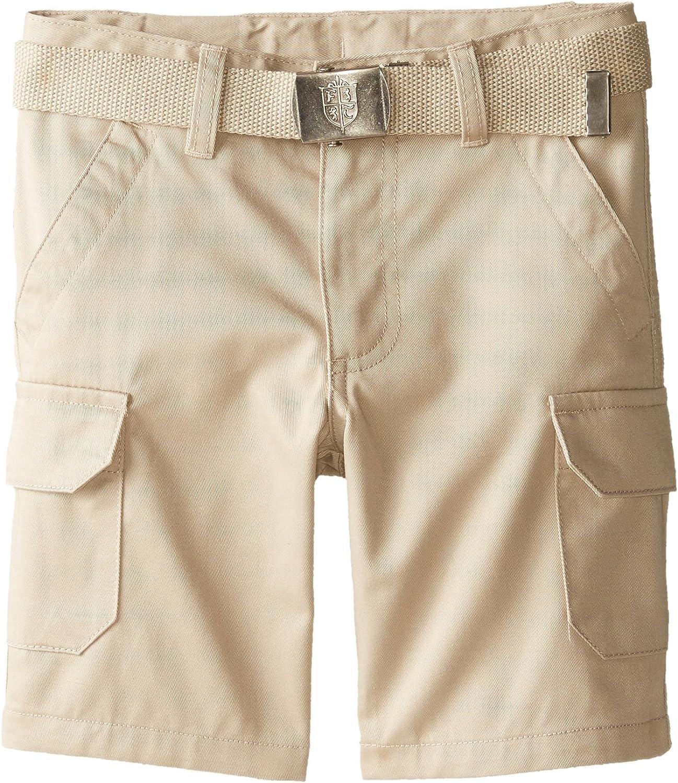 French Toast Boys' Belted Cargo Pocket Short