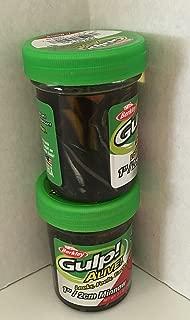 Gulp! Alive! Gulp Bait 1 INCH Black SHAD Minnow 2 jar Bundle Berkley Perch Minnows ice Fishing Bait Panfish Minnows
