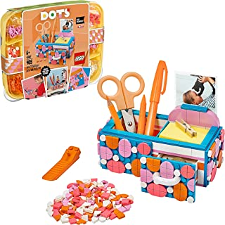 LEGO DOTS Desk Organizer 41907 DIY Desk Accessories Decorations Set, Arts and Crafts Toy for Kids 6+ years old (405 pieces)