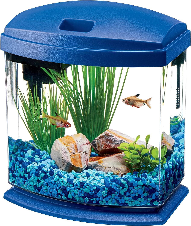 Aqueon LED MiniBow Aquarium Starter Kits with LED Lighting, 1 Gallon, bluee
