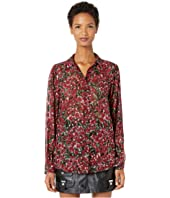 The Kooples - Button Down Shirt in A Raspberry Love Print