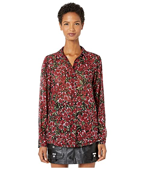 The Kooples Button Down Shirt in A Raspberry Love Print