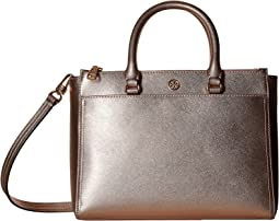 Robinson Metallic Small Double Zip Tote