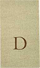 Caspari Natural Jute Boxed Paper Linen Guest Towel Napkins in Letter D - Pack of 24