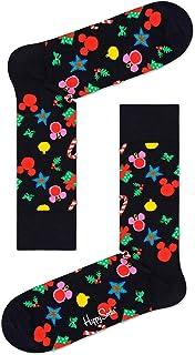 Happy Socks x Disney Holiday Unisex Treemendous Colorful Print Crew Sock, 1 Pair