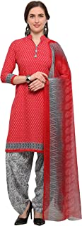 Rajnandini Dark Peach Crepe Salwar Suit For Women (Ready To Wear)(One Size)