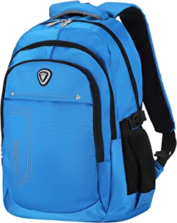 BRONCO POLO School Backpack High and Middle Student Bookbag Laptop Backpack Travel Computer Bag-Royal Blue