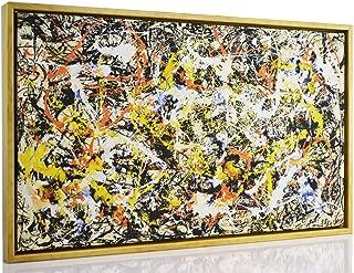 Berkin Arts Framed Jackson Pollock Giclee Canvas Print Paintings Poster Reproduction Fine Art Home Decor (Convergence)