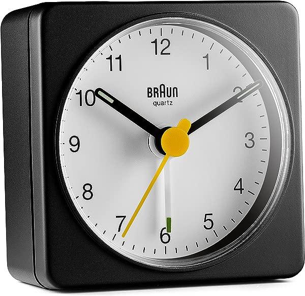 Braun BC02BW Travel Alarm Clock Black White