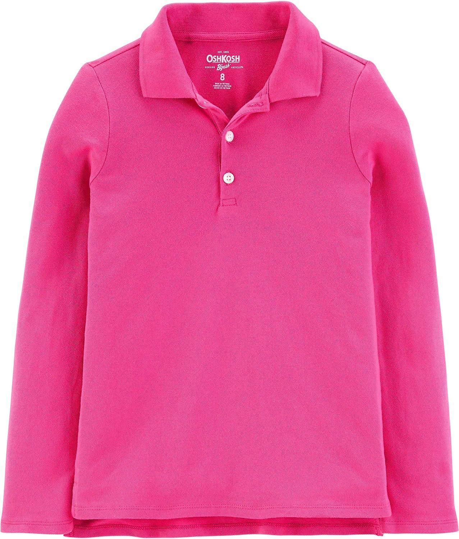 OshKosh B'Gosh Girls' Toddler Long Sleeve Uniform Polo Shirt