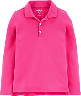 Girls' Little Long Sleeve Uniform Polo Shirt