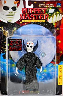 1998 - Full Moon Toys Inc - Puppet Master - Action Figure Series - Death Mephisto : Japanese Exclusive - Black & Silver Robe / White Skull / Orange Horns / Crystal Ball - 6 Inches - New - Very Rare - Mint - Out of Production - Collectible