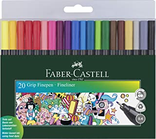 ROTULADOR Fibra Faber Castell Grip FINEPEN 1516 Estuche de 20