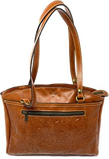 Patricia Nash Poppy Tote Tooled Leather Handbag Purse