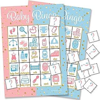 DISTINCTIVS Baby Gender Reveal Party Bingo Game - 24 Guests