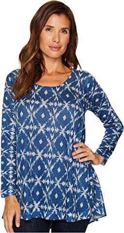 Nally & Millie - Blue Ikat Print Tunic