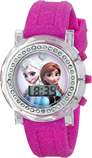 Disney Kids' FZN3580 Frozen Anna and Elsa Flashing-Dial...