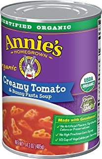 Annie's Homegrown Organic Creamy Tomato & Bunny Pasta Soup,, 14 Oz (pack Of 8)