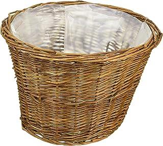 【小物収納やインテリアに最適な手作りバスケット】Willow Basket ブラックウイロープランター D6号 11-756