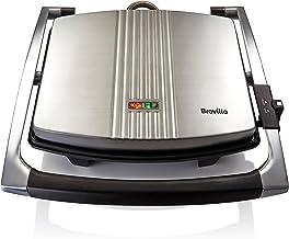 Breville VST026X Sandwichmaker Panini Grill | Sandwichtoaster roestvrij staal | Platina