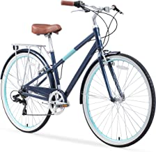 sixthreezero Reach Your Destination Women's Hybrid Bike with Rear Rack, 28 Inches, 7-Speed