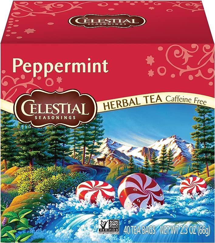 Celestial Seasonings Herbal Tea Peppermint 40 Count