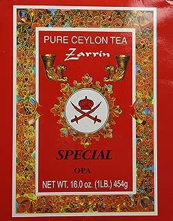 Zarrin Pure Ceylon Tea, Orange Pekoe A, 1LB (454g)