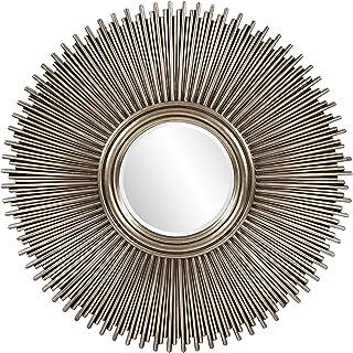 Howard Elliott Singapore Silver Leaf Mirror, Multi Rod Starburst Frame, 50 Inch Diameter