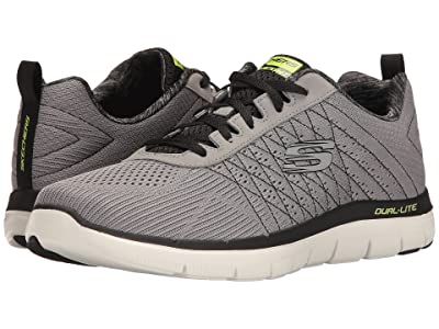 SKECHERS Flex Advantage 2.0 The Happs (Light Gray/Black) Men