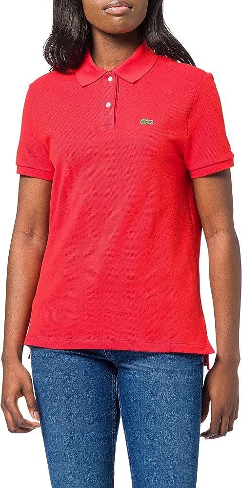 Lacoste polo, maglietta a manica corta per donna,100% cotone PF7839B